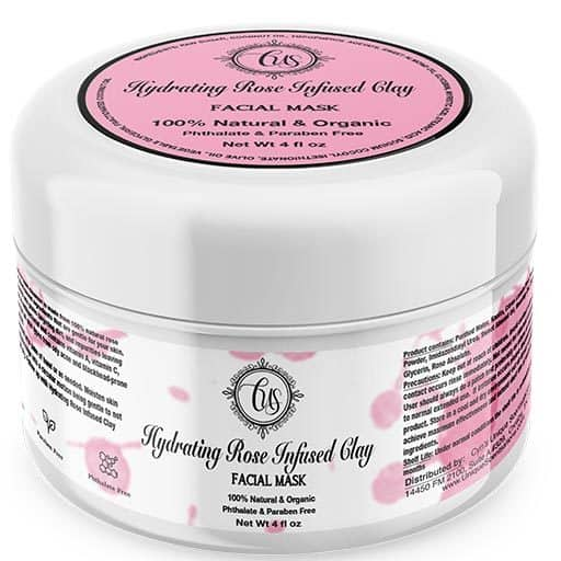 Hydrating Rose Infused Clay Facial Mask 4oz jar (512x512)