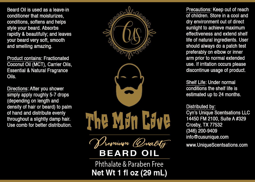 The Man Cave label (2.5 inch high X 3.5 inch wide) copy 7